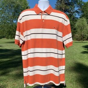 Tommy Hilfiger Collared Polo Orange
